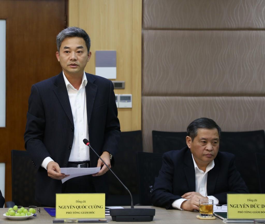 Ông Nguyễn Quốc Cường - Chủ tịch Hiệp hội QTDND phát biểu tại buổi làm việc